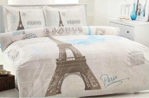 Paris Design 100 Cotton Quilt Cover Set Duvet Cover Set