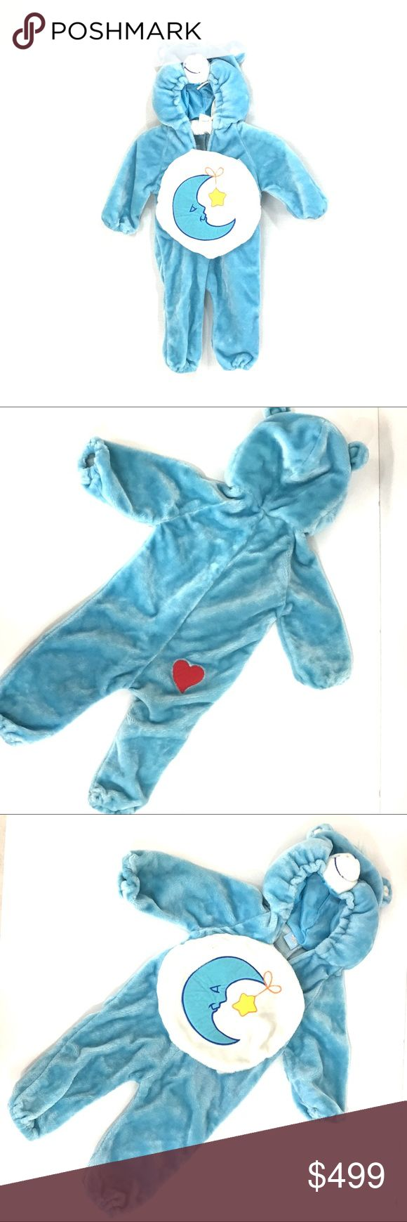 Toddlers CareBear bedtime Bear costume No size. Vintage. Super rare and hard to find. No size. Fits approx 18-24 months. Wear related to its age. View all pictures throughly   🌹no trades 🌹discounts on bundles of 2+  🌹1000 items listed, take a peak!  🌹suggested user, posh compliant:) Costumes