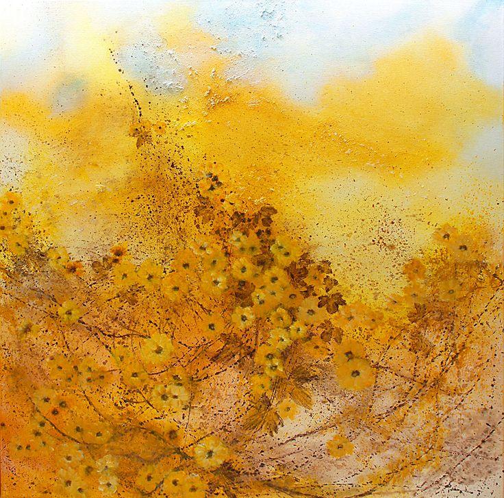 In the amber blast...100x100cm acrylic canvas