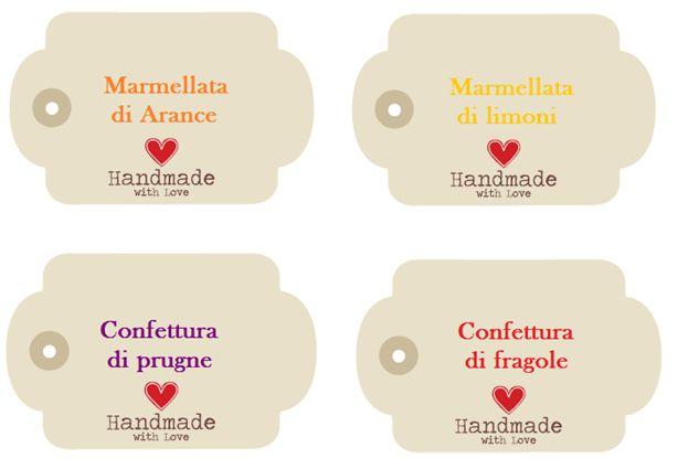 Etichetta per marmellata stampabile gratis