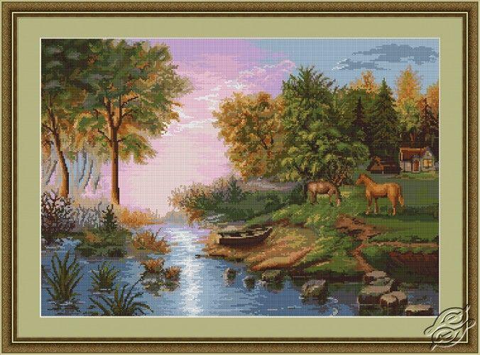 Summer Landscape - Cross Stitch Kits by Luca-S - B431
