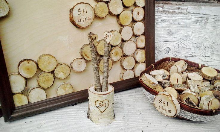Alternative Hochzeit Gästebuch (100) von Laurnika auf DaWanda.com