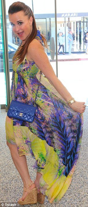Beverly Hills Housewife Kyle Richards in Shahida Parides Dress at her store Kyle by Alenetoo