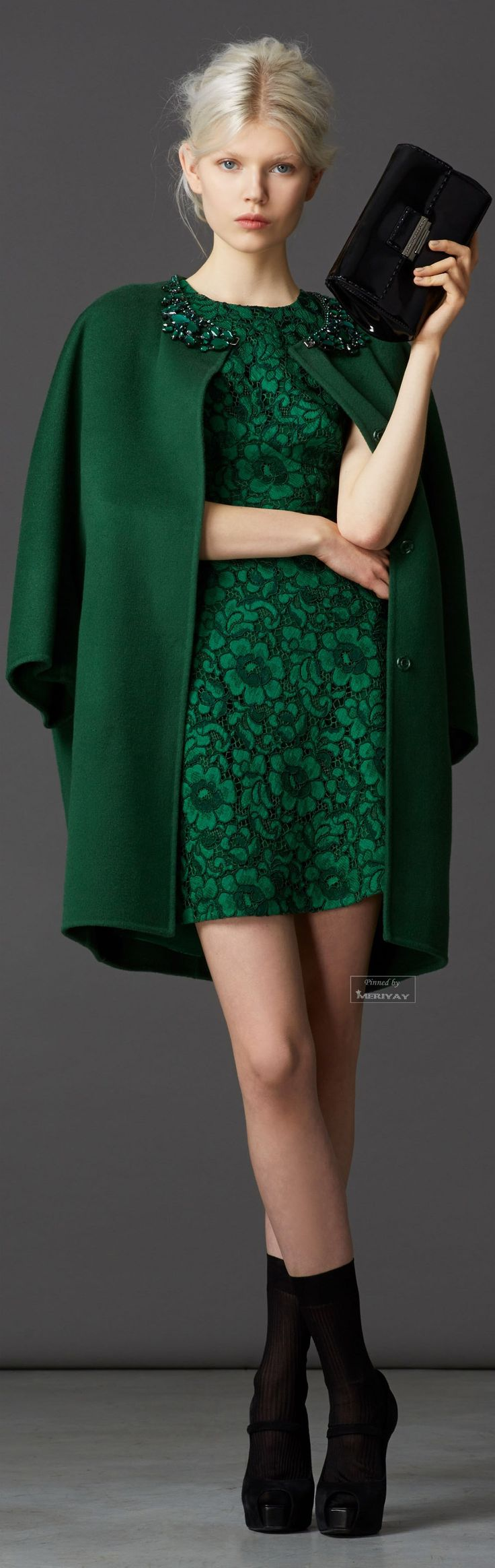 Gorgeous green dress and coat