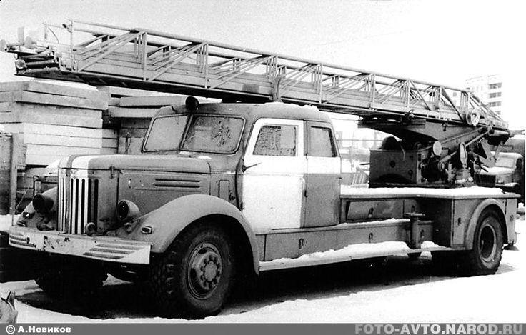 Автомеханическая пожарная лестница АЛМ-32 модели «ЛА» на удлиненном шасси МАЗ-200    /  Русская Сила