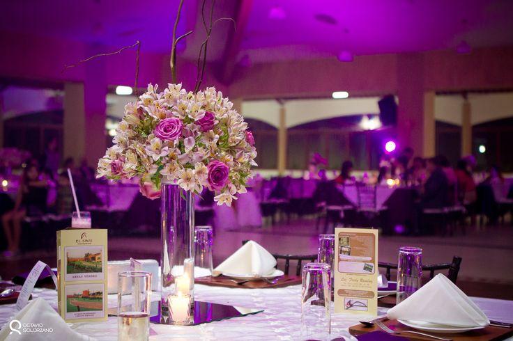 Centros de mesa para quinceanera 2013 centros de mesa para bodas en sal n de eventos el sinai - Centro de mesa para salon ...