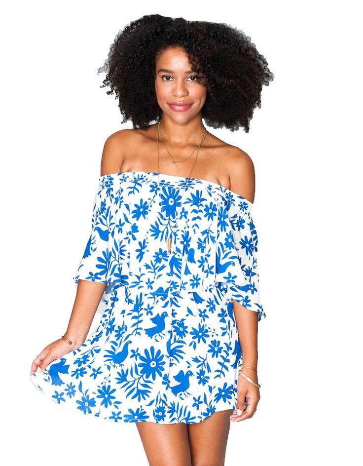 Show Me Your Mumu Casita Mini Dress in Senorita Bluebird Cloud