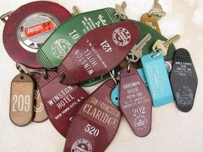 Hotel keys...I remember these so well.