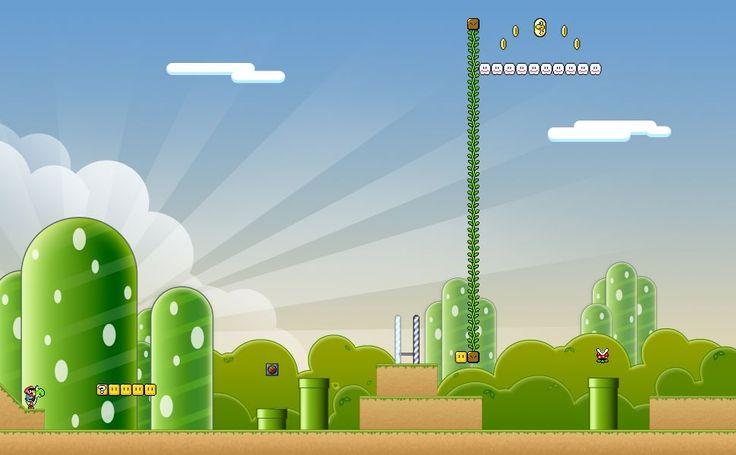 Escenarios De Mario Bros HD Wallpaper