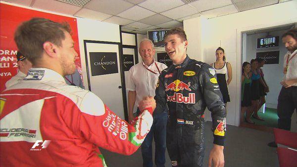 Vettel and Max, #SpanishGP #F1 2016