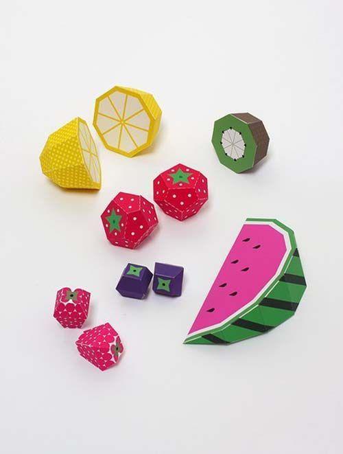 Patrones para hacer frutas de papel