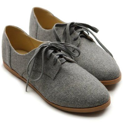Ollio Women Classic Flat Shoe Lace Up Faux Suede Oxford Oxfords W7YUKAMRX