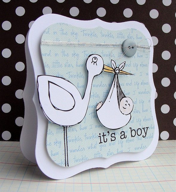 Hero Arts Digital Card - It's a Boy by Lucy Abrams, via Flickr