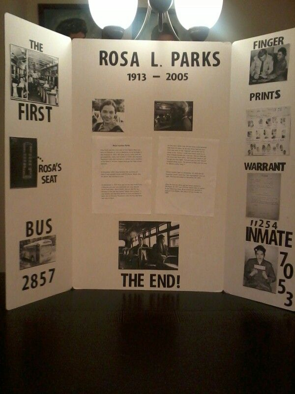 Black History Project did that is in the first grade of Rosa Parks