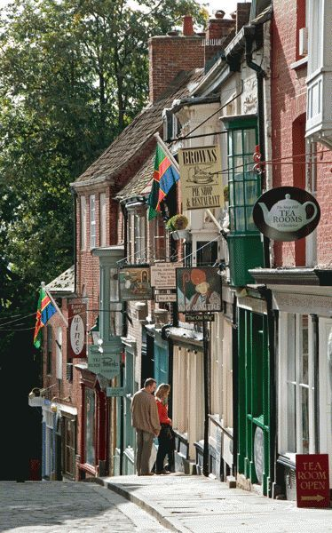 Great place for independent shops. Steep Hill Shops in Lincoln ~ Lincolnshire, England