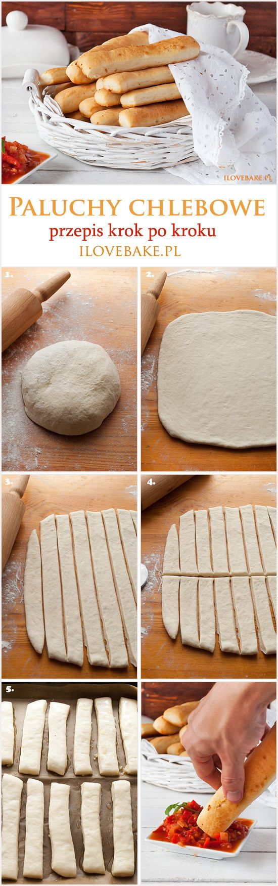 Breadsticks / Paluchy chlebowe ilovebake.pl