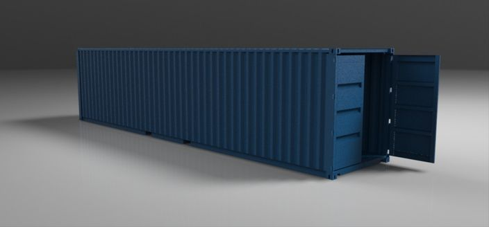 40 Iso Container Solidworks Stl Catia Step Iges