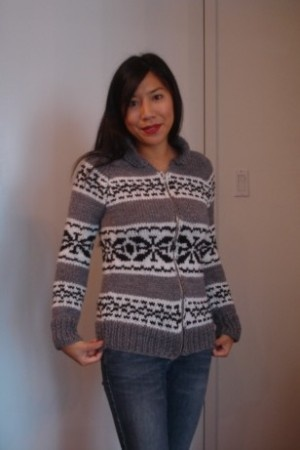 Cowichan sweater knitting pattern. Someday...when I have the time (and the patience). For now all I can manage is fair isle socks.