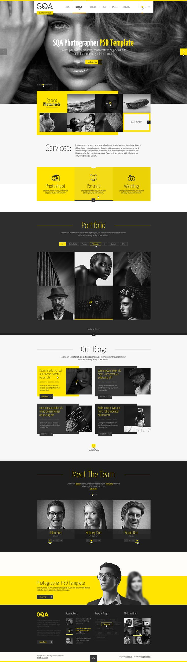 SQA — PSD Template - ThemeForest Previewer