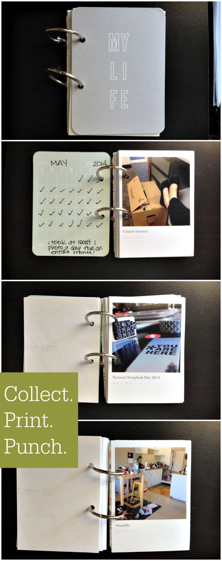 Simple Mini-Album with Photos using the Collect photo app. #project365 #monthinthelife