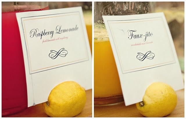 Lemons as card holders.