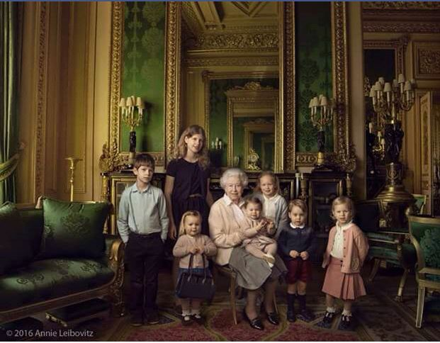 The queen and her great children for her 90 th birthday April 21,2016