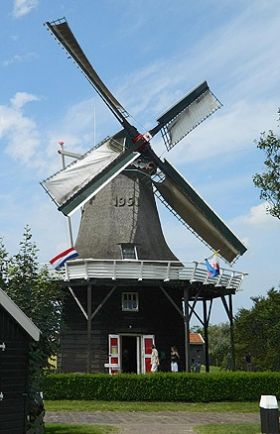 Flour and grinding mill De Verwachting, Hollum (Ameland),  The Netherlands