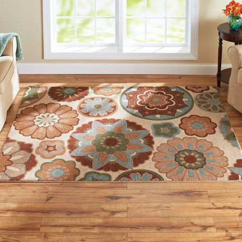 Better Homes And Gardens Suzani Faux Hook Medallion Rug, Tan: Decor :  Walmart.