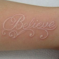 Witte inkt - www.Tattoo-Holland.nl