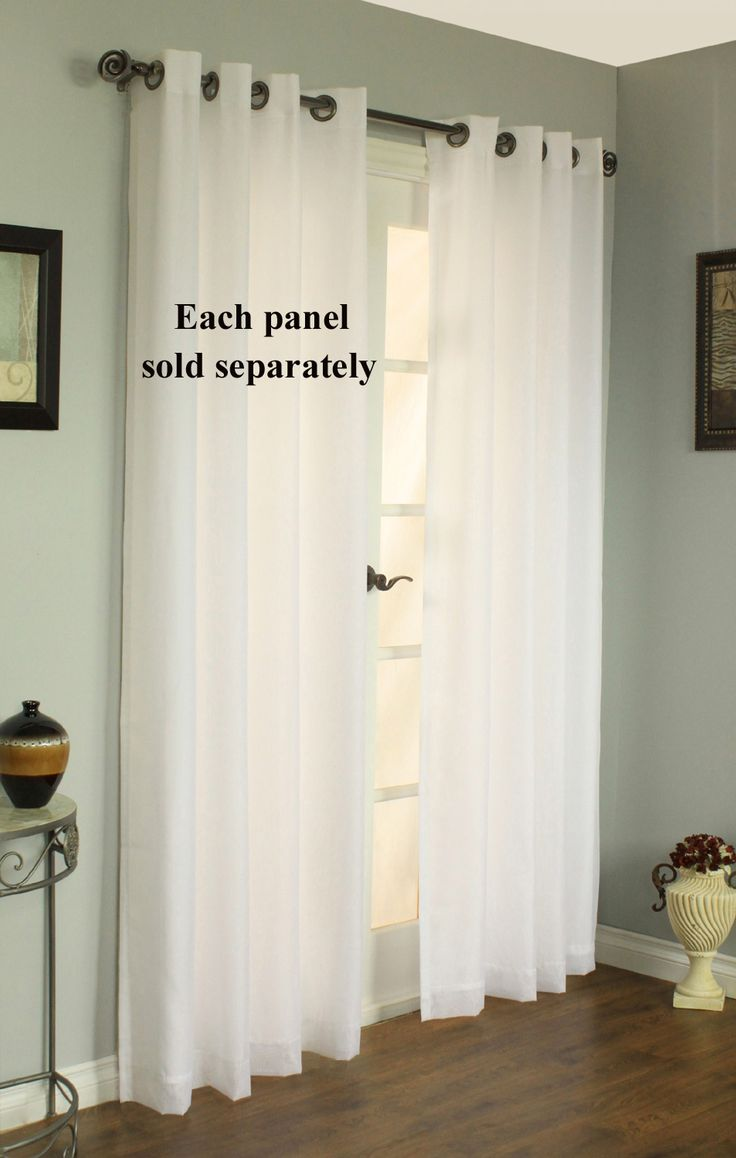 21 best images about grommet and tab top on pinterest for Double width curtain lining