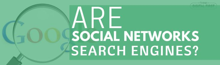 Are Social Networks Search Engines? #SMO #SEO