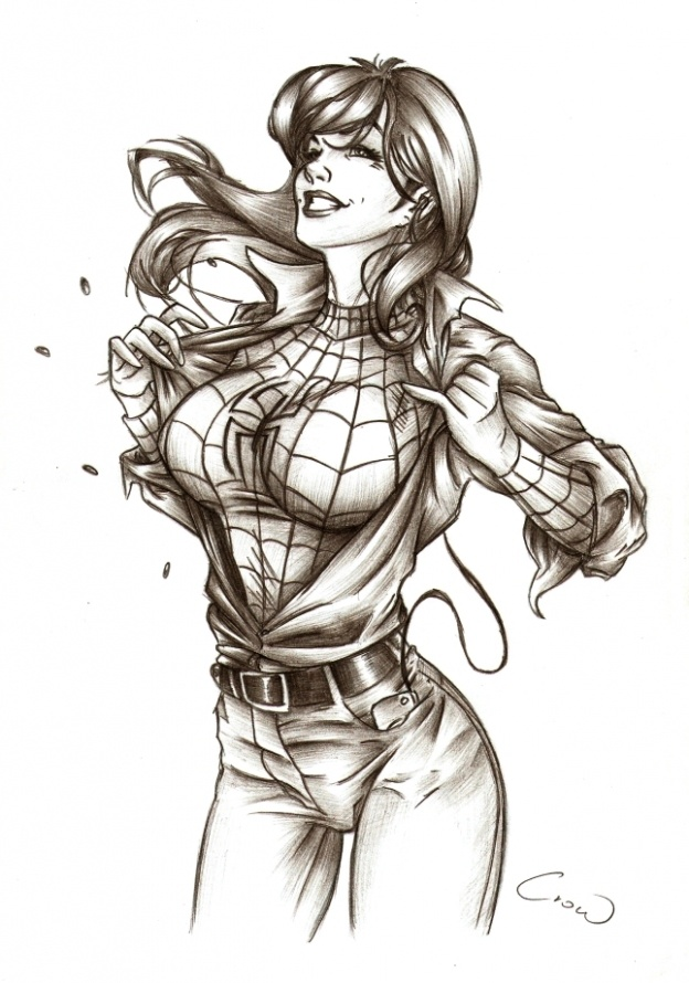 mary jane watson coloring pages - photo#43