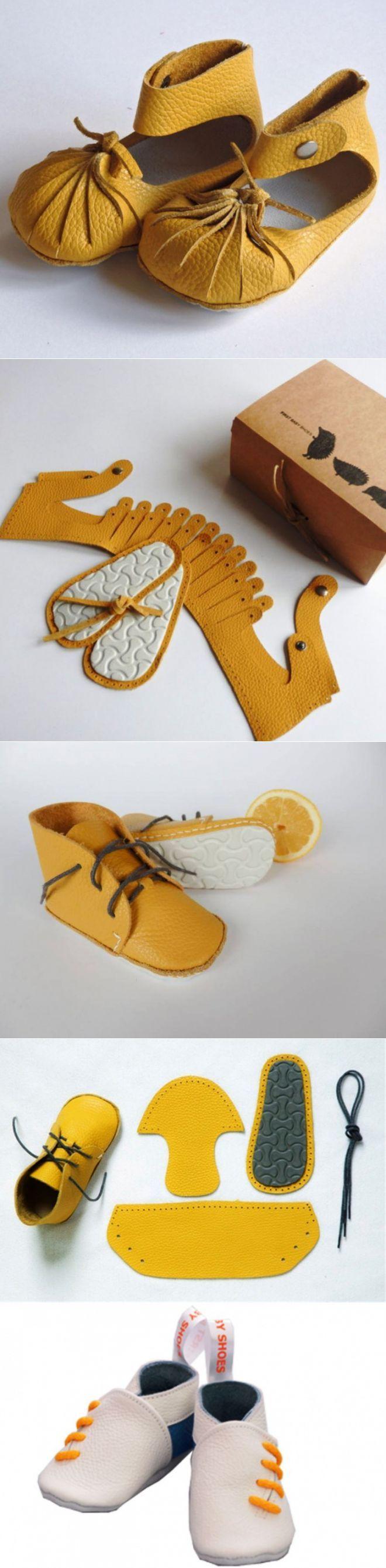 First Baby Shoes - сделай сам (DIY, видео) / Для детей / Своими руками - выкройки, переделка одежды, декор интерьера своими руками - от ВТОРАЯ УЛИЦА