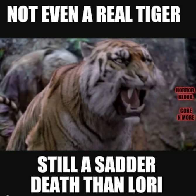 Shiva's death was one of the saddest :'( Even though I know it was a CGI tiger, I was devastated.