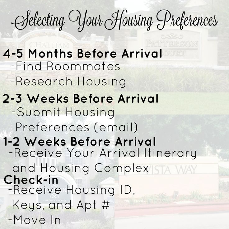 Choosing your roommates and housing preferences for the DCP (Disney College Program)
