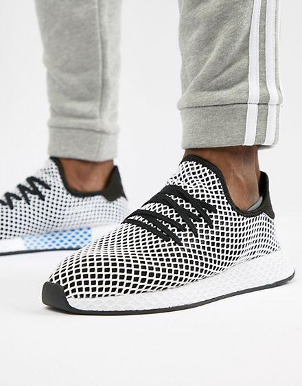 newest 8746a 1bcd7 adidas Originals Deerupt Runner Sneakers In Black CQ2626