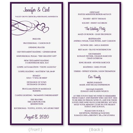 Best Programs Images On   Wedding Program Templates