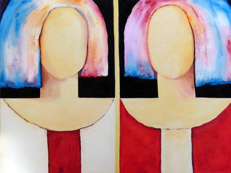 Doble Cara (2010)  Oil on Canvas 100x70