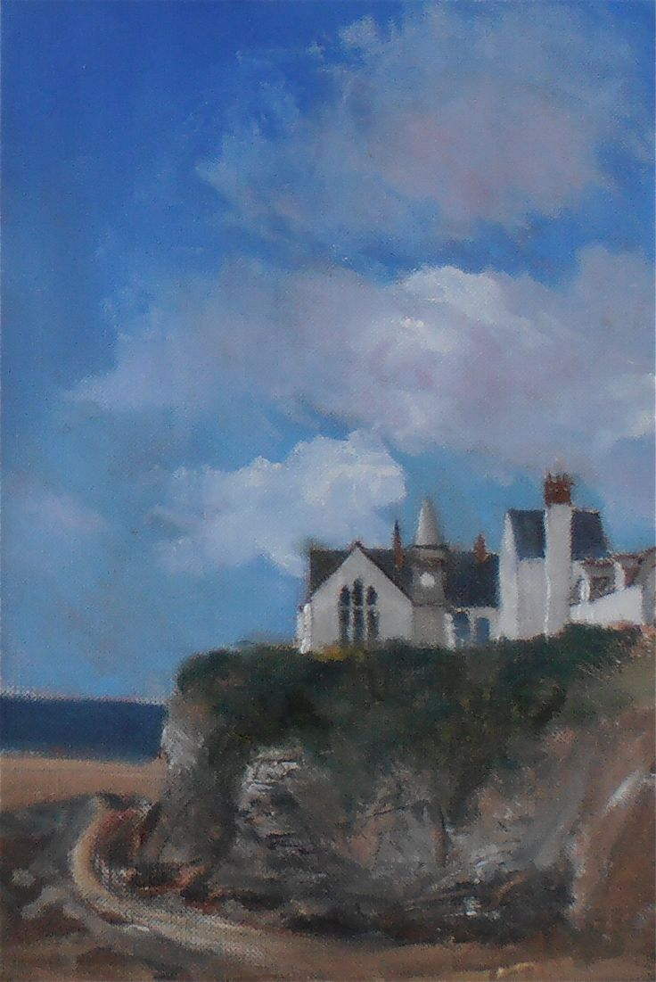 """The School House, Pot Isaac, Cornwall, oil on paper from the Exhibition """"Drawn to the Edge 2012"""""""