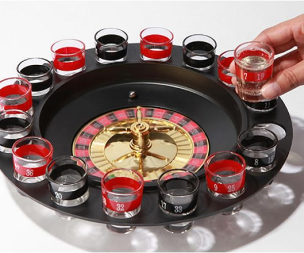 Shot glass roulette. More exciting and more involving than beer pong. #fun #awesome #cool