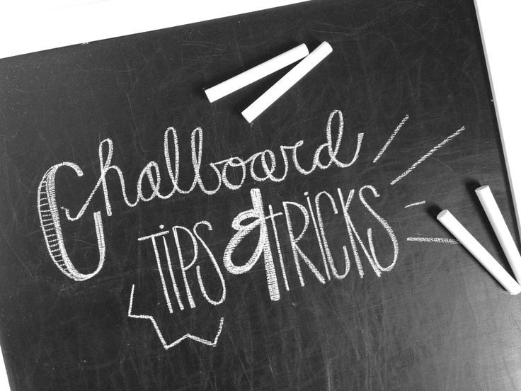 Tied Ribbon: Chalkboard Writing Tips & Tricks