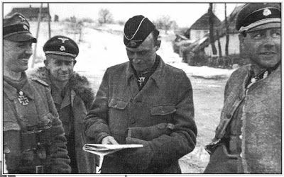 Battle+of+Kharkov+1943+SS+officers.jpg (400×250) Fritz Witt (right) and Kurt Meyer (left)