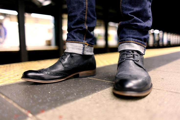 black brogue boots