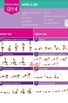 Kayla Itsines Workout Wednesday week 2&4