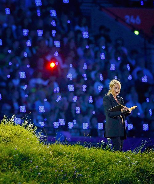J.K. Rowling reading from Peter Pan at the 2012 Olympics in London.