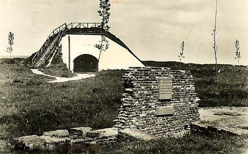 Brielle - Restant van de Noordpoort (1 april monument) . In het verlengde van de Dijkstraat!
