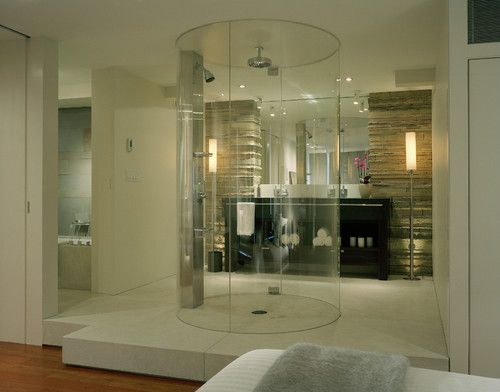 modern bathroom by Garret Cord WernerBathroom Design, Modernbathroom, Shower Design, Modern Bathroom, Bathroom Vanities, Bathroom Ideas, Bathroom Shower, Master Bathroom, Dreams Shower
