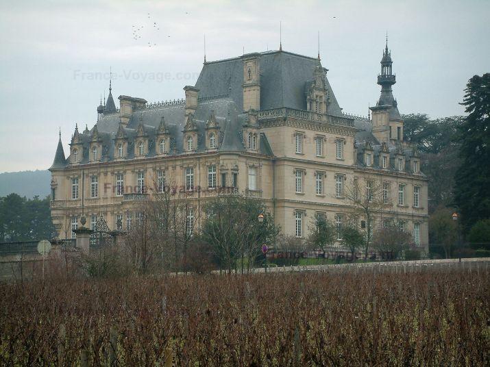 Vignoble de la Côte de Nuits, château de Brochon, Bourgogne