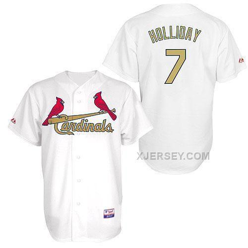 http://www.xjersey.com/cardinals-7-holliday-white-golden-numbername-jerseys.html Only$34.00 CARDINALS 7 HOLLIDAY WHITE GOLDEN NUMBER&NAME JERSEYS Free Shipping!