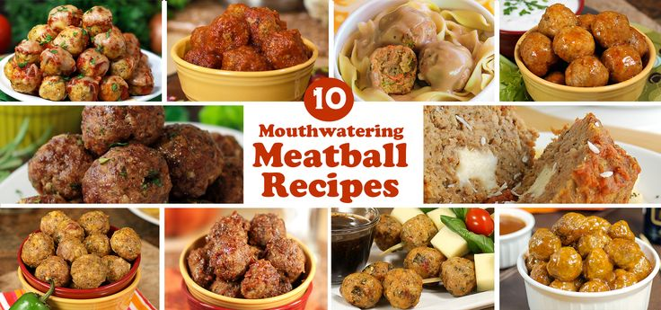 10 Mouthwatering Meatball Recipes @Mairead Greaney Magazine #recipe #meatball #makeahead #freezermeal  CLICK 4 RECIPES -->http://parade.condenast.com/269733/donnaelick/10-mouthwatering-meatball-recipes/